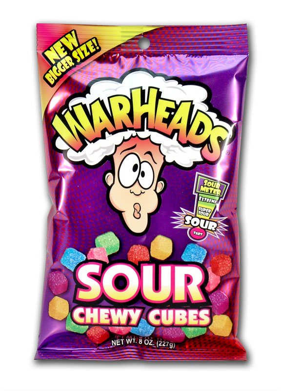 Warheads Chewy Sour Cubes (141g)-0