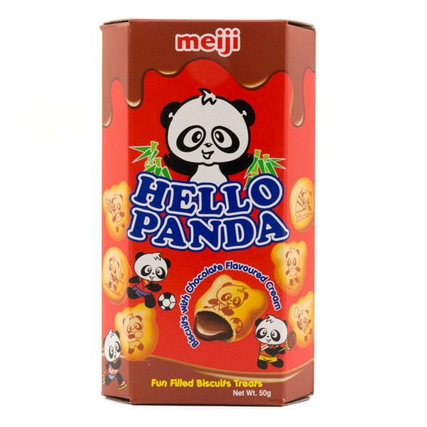 Meiji Hello Panda Chocolate Biscuits (50g)-0