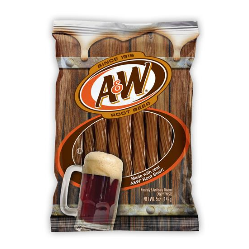 A&W Root Beer Twists (142g)-0
