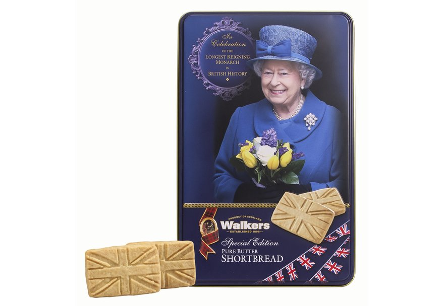 """Walkers All Butter Shortbread in """"Longest Reigning Monarch"""" Tin (250g)-0"""