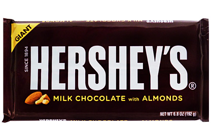 Giant Hershey's Milk Chocolate with Almonds (192g)-0