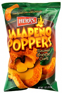Herr's Jalepeño Poppers Cheese Curls (28g) -0