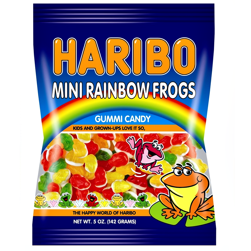 Haribo Mini Rainbow Frogs (142g)-0