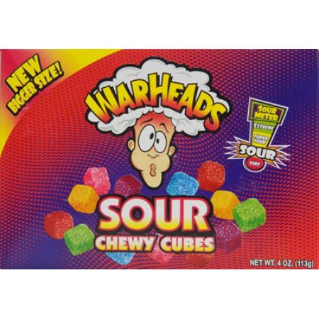 Warheads Chewy Cubes Theatre Box (114g)-0