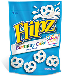 DeMet's Flipz Birthday Cake Covered Pretzels (141g)-0