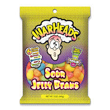 Warheads Extreme Sour Jelly Beans (142g)-0