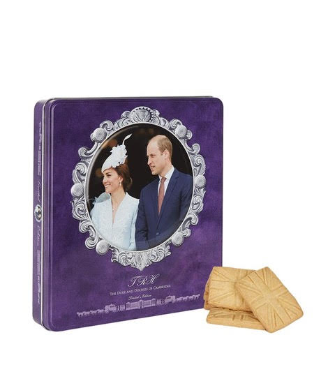 Walkers Pure Butter Shortbread in Limited Edition Commemorative Kate & William Tin (300g)-0