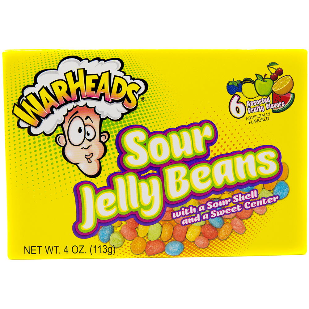Warheads Extreme Sour Jelly Beans (113g)-0