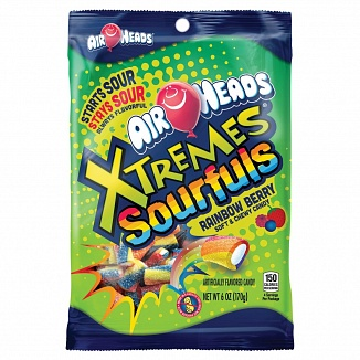 Airheads Xtremes Sourfuls Rainbow Berry (170g)-0