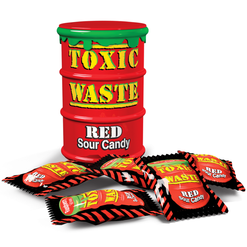 Toxic Waste Red Sour Candy (42g)-0