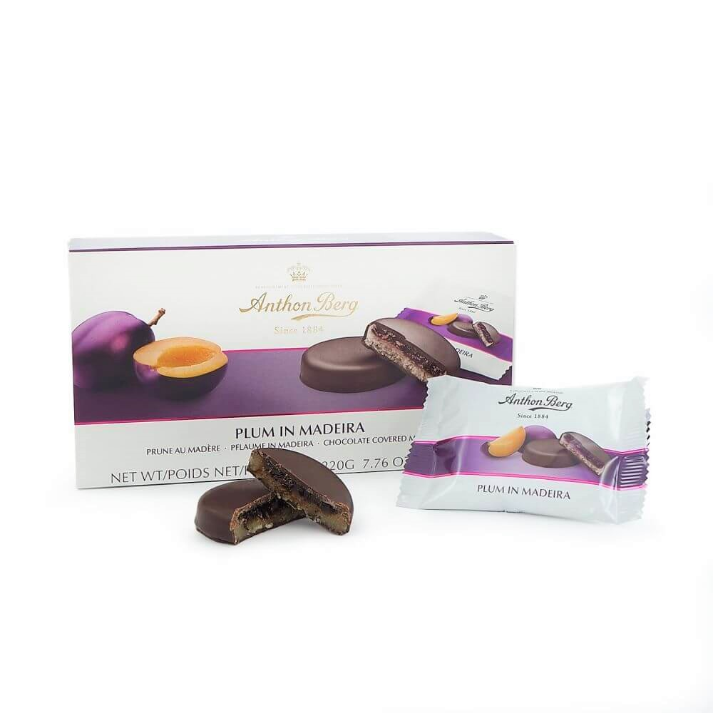 Anthon Berg Plum In Madeira Chocolate Covered Marzipan (220g)-9947