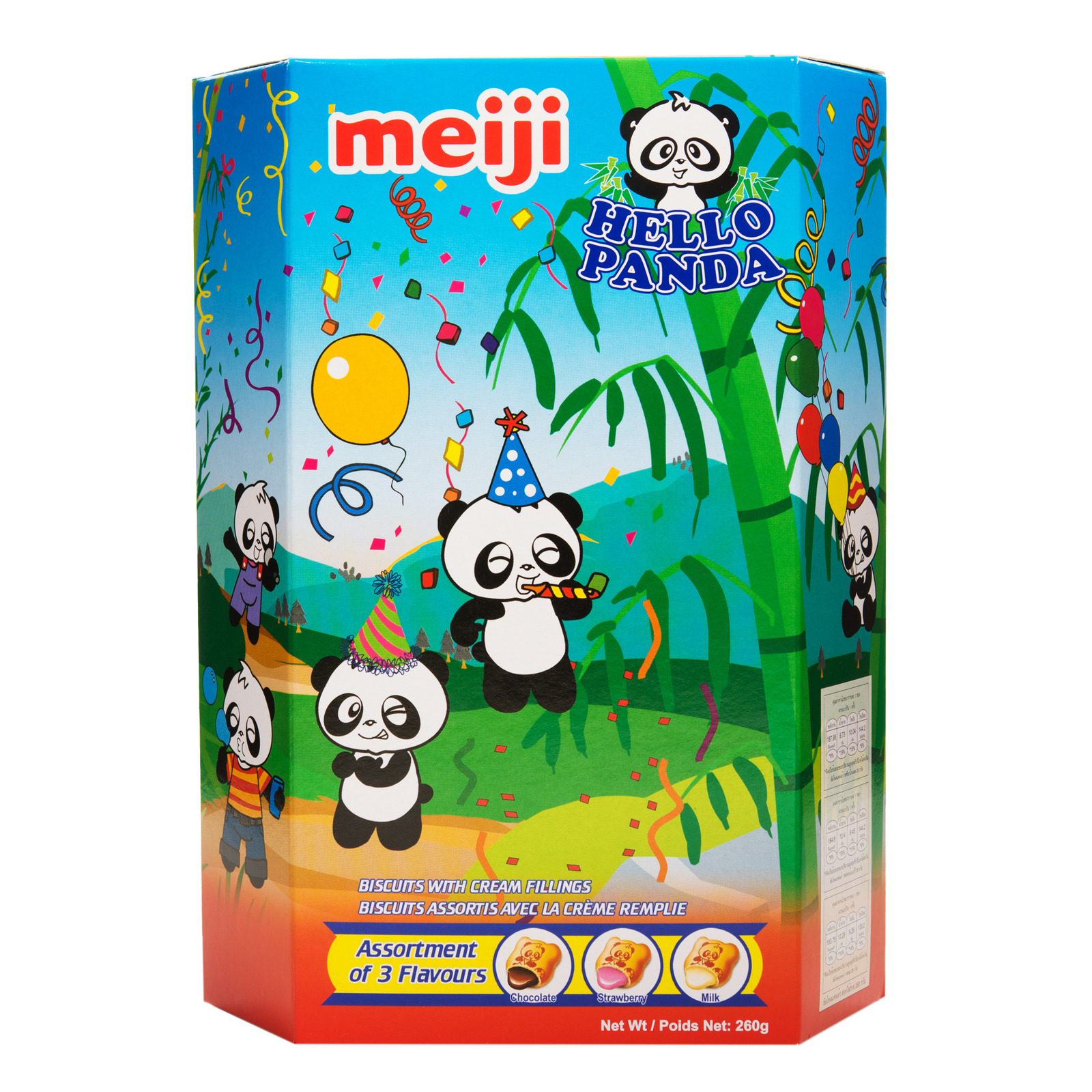 Meiji Hello Panda Assorted biscuits (260g)-0
