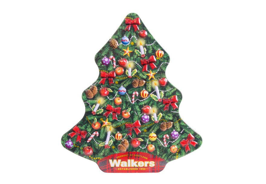Walkers Traditional Christmas Tree Tin (225g)-0