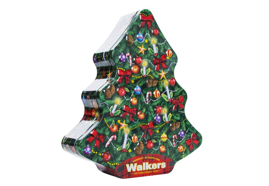 Walkers Traditional Christmas Tree Tin (225g)-4892