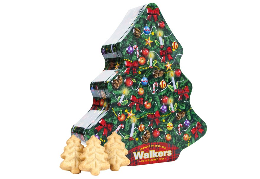 Walkers Traditional Christmas Tree Tin (225g)-4893