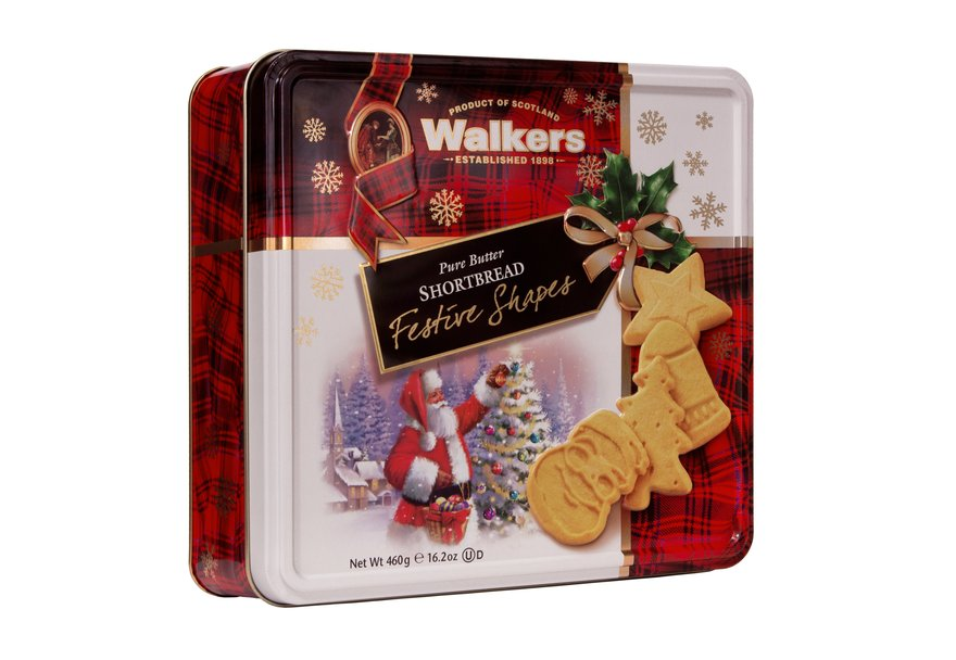 Walkers Festive Shapes Tin (460g)-0