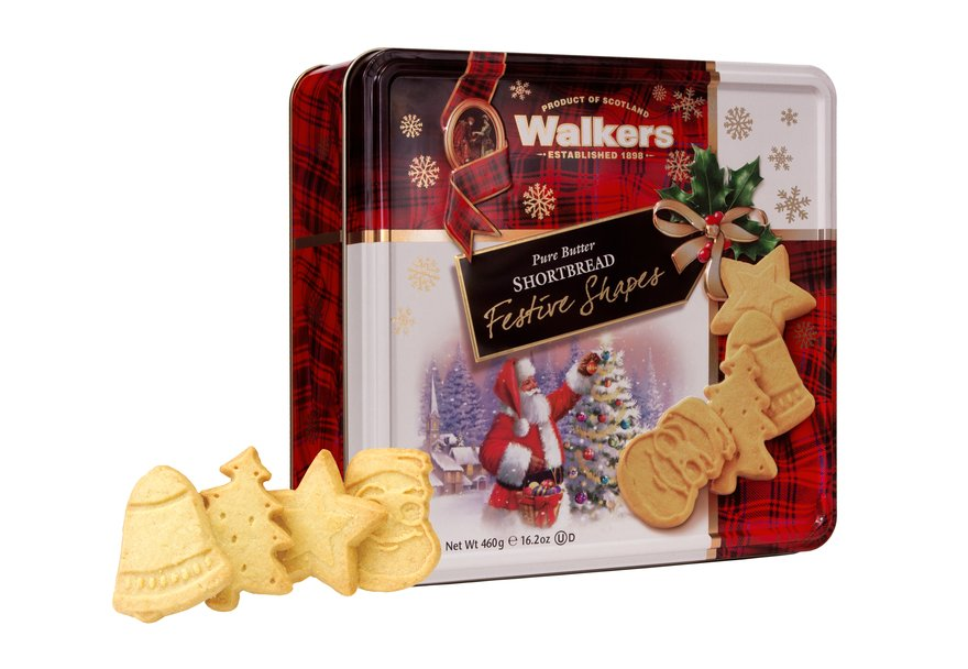 Walkers Festive Shapes Tin (460g)-4882