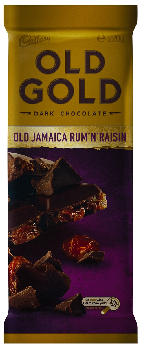 Cadbury Old Gold Dark Chocolate Old Jamaica Rum 'N' Raisin (200g)-0