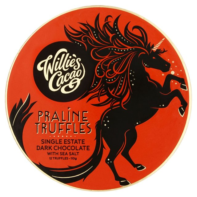 Willie's Cacao Praline Truffles Dark (110g)-0