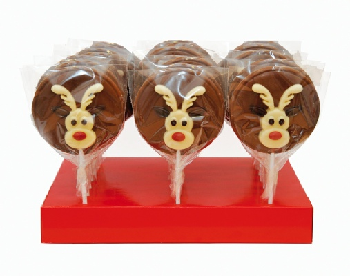 "Hand Decorated ""Christmas Rudolph"" Lollipop (55g)-0"