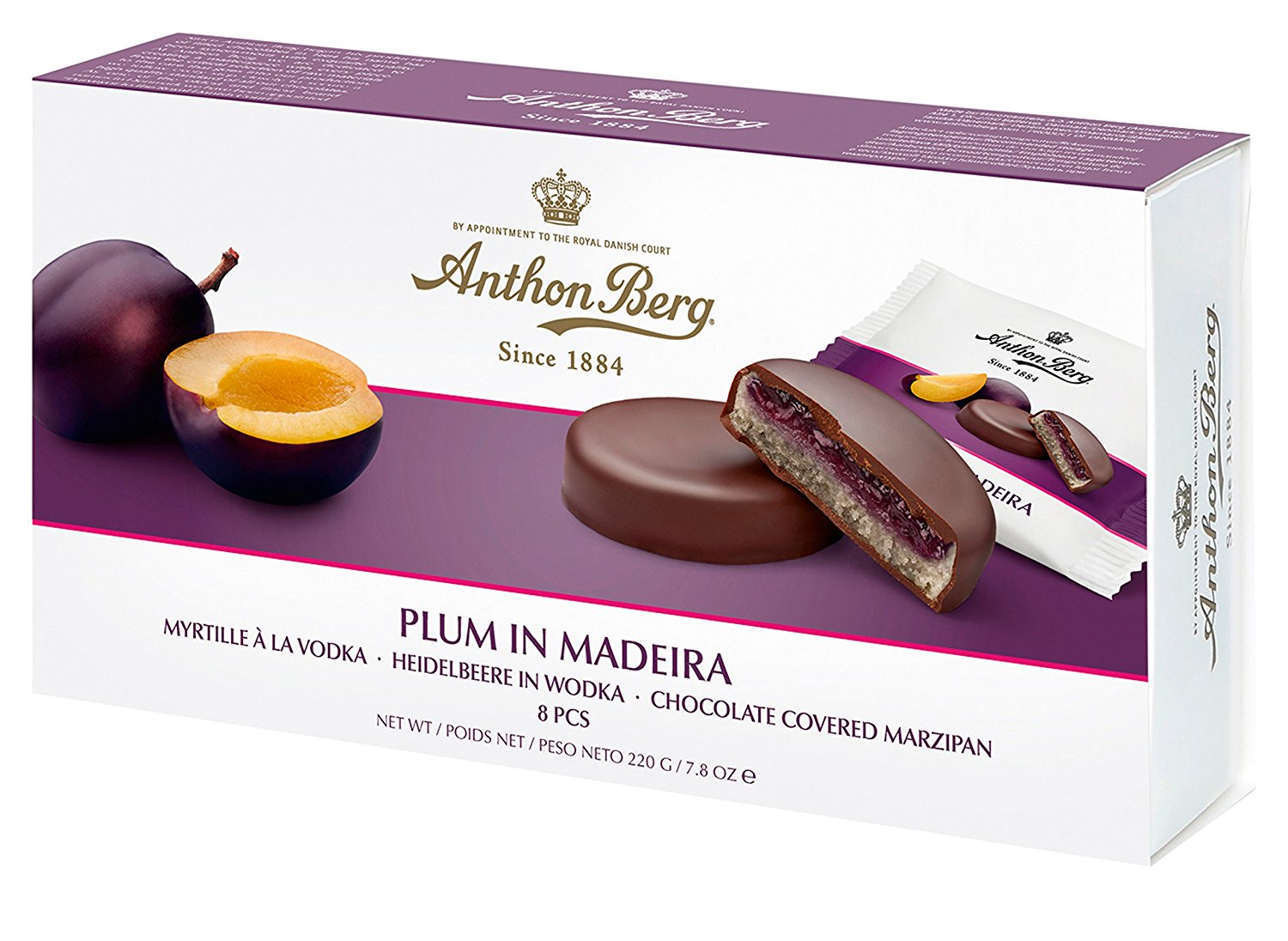 Anthon Berg Plum In Madeira Chocolate Covered Marzipan (220g)-0