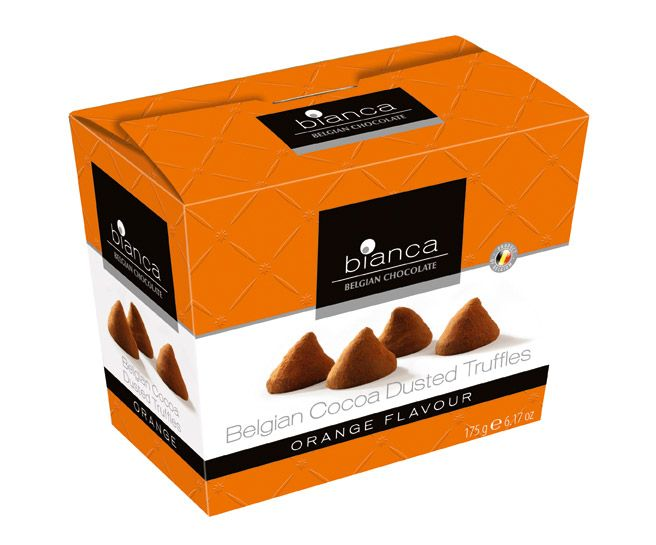 Bianca Belgian Cocoa Dusted Truffles Orange Flavour (175g)-0
