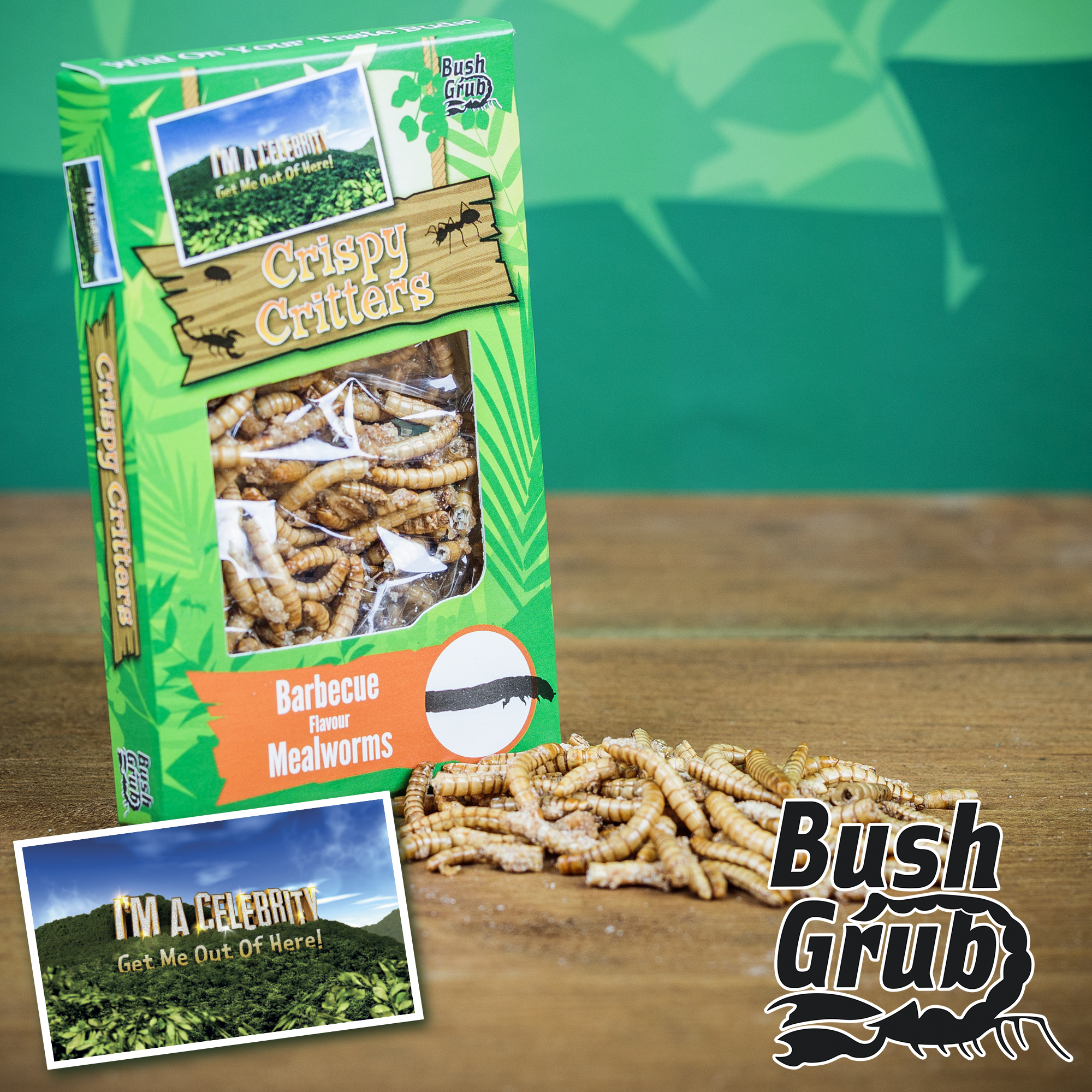 Bush Grub Crispy Critters: Barbecue Flavour Mealworms (6g)-0