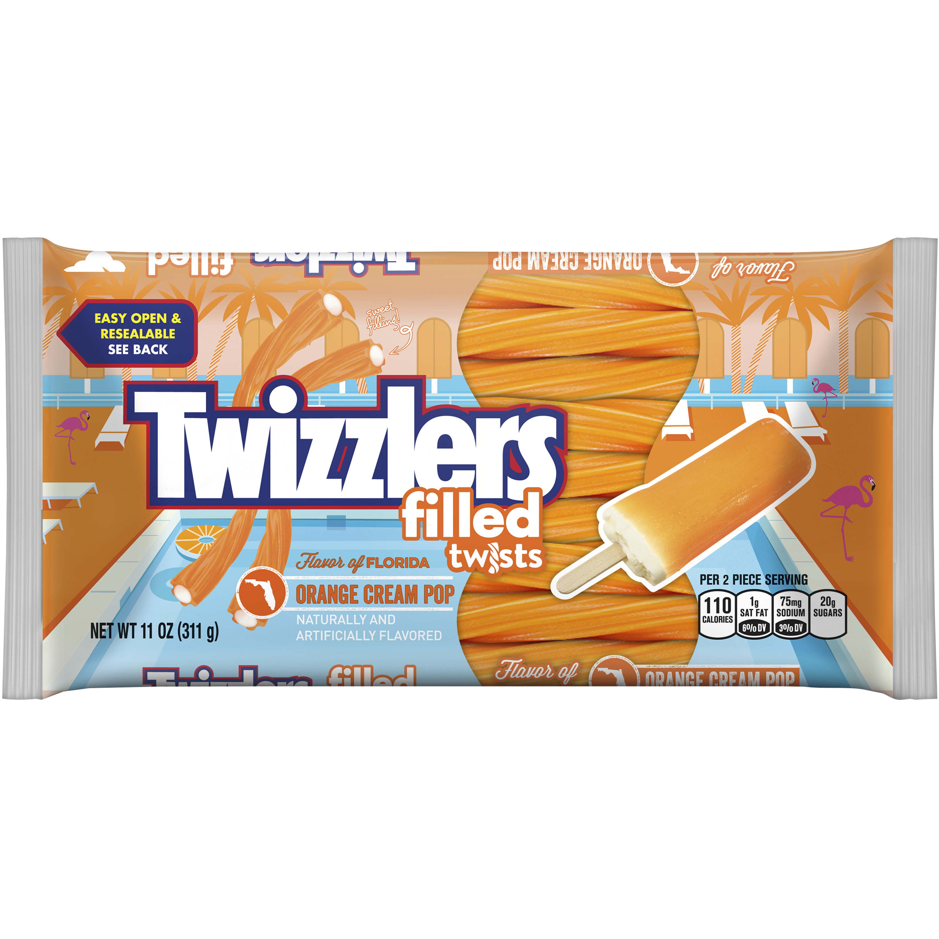 Twizzlers Filled Twists Orange Cream Pop (311g)-0