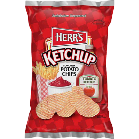 Herr's Ketchup Flavoured Potato Chips (99.2g)-0