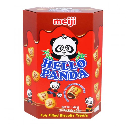 Meiji Hello Panda Chocolate Biscuits (260g)-0
