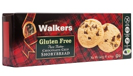 Walkers Gluten Free Pure Butter Chocolate Chip Shortbread (140g)-0