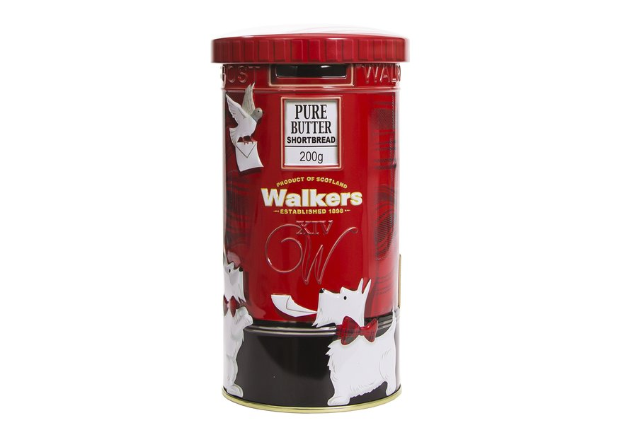 Walkers Shortbread Rounds In Red Postbox Tin (200g)-0