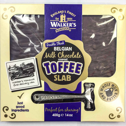 Walker's Nonsuch Milk Chocolate Covered Toffee Slab (400g)-0