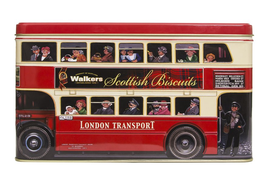 """Walkers Traditional Scottish Biscuits """"London Bus"""" (450g)-0"""