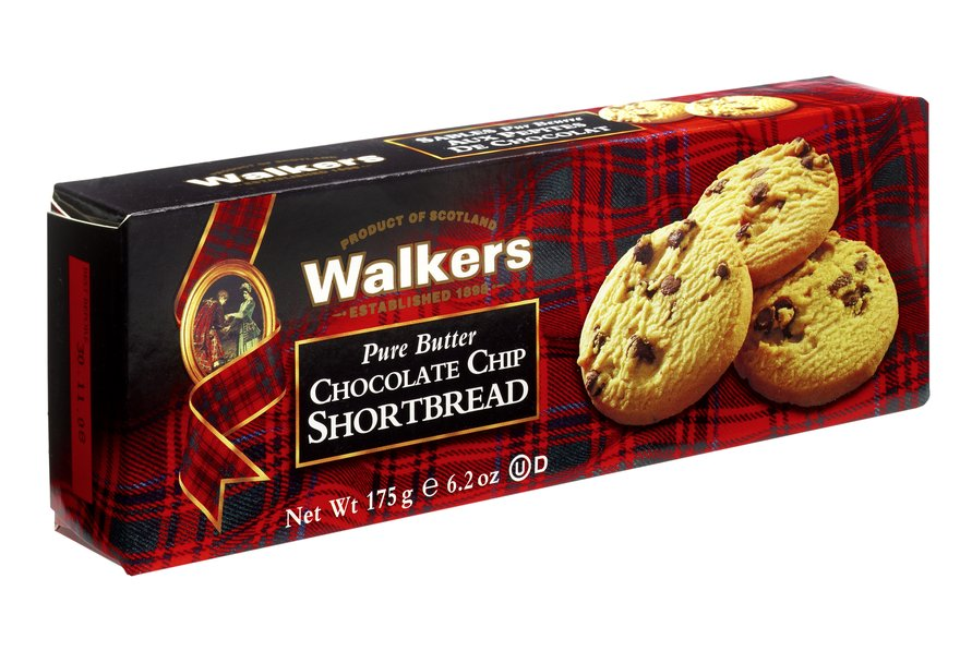 Walkers Pure Butter Chocolate Chip Shortbread (175g)-0