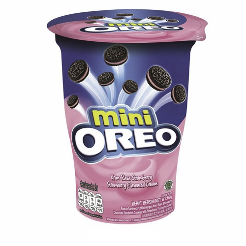 Mini Oreo Strawberry Flavoured Cream (61g)-0