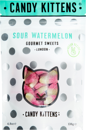 Candy Kittens Sour Watermelon Vegan Recipe (138g)-0