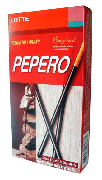 Lotte Pepero Original Biscuit Sticks (47g)-0