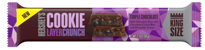 Hershey's Cookie Layer Crunch Triple Chocolate King Size - 59g-0