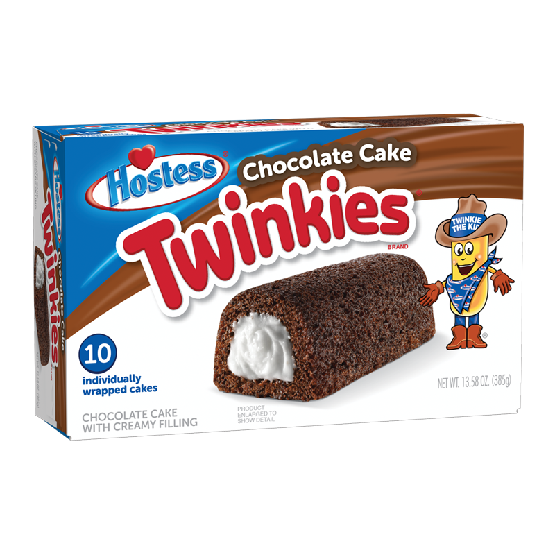 Hostess Chocolate Cake Twinkies 10 Pack (385g)-0