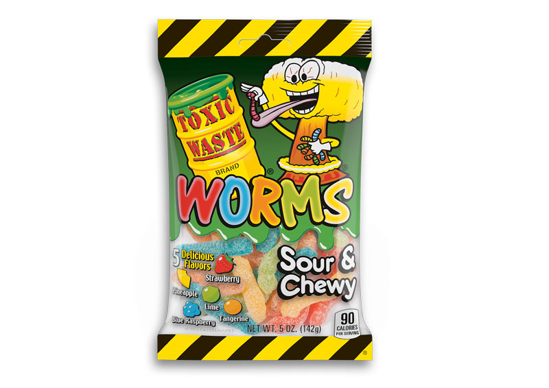 Toxic Waste Sour Worms (142g)-0