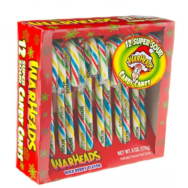 Warheads 12 Super Sour Candy Canes 170g-0