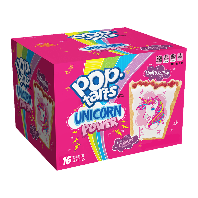 KELLOGG'S Pop Tarts Unicorn Power Frosted Cherry Limited Edition (832g)-0