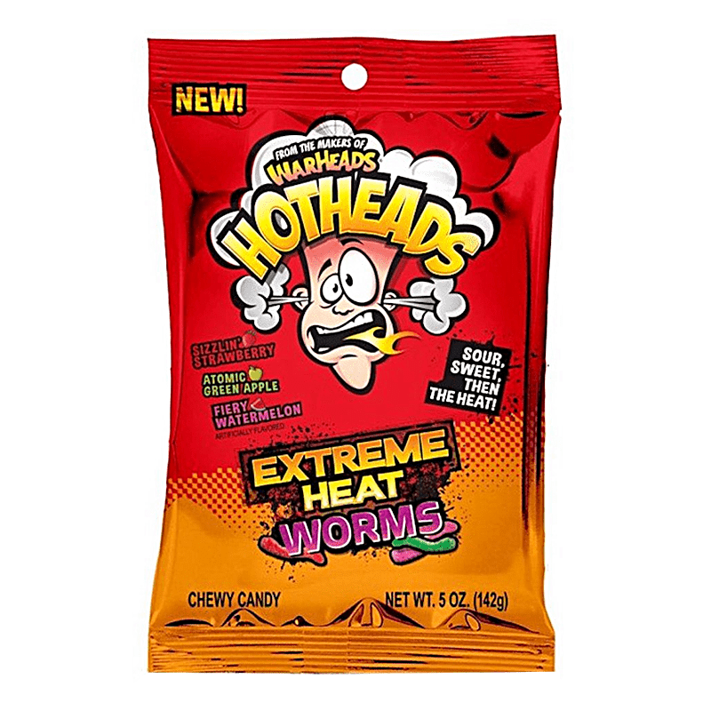 Warheads Hotheads Extreme Heat Worms (142g)-0