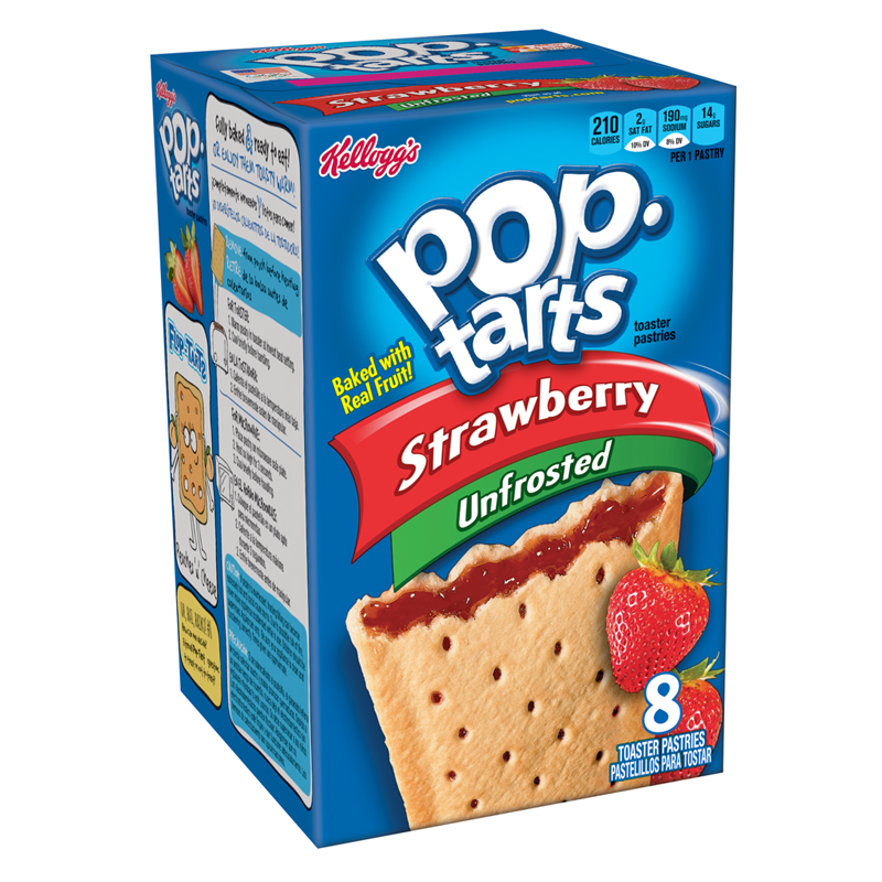 KELLOGG'S POP TARTS Strawberry Unfrosted (416g)-0