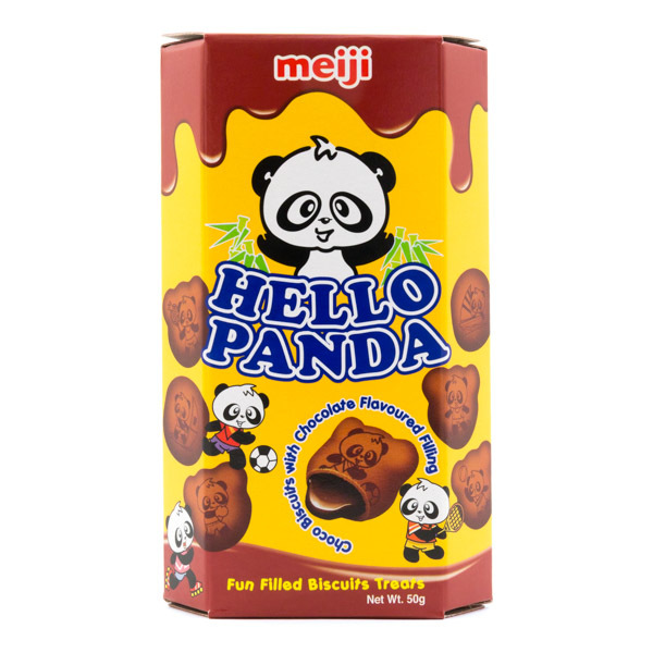 Meiji Hello Panda Double Chocolate Biscuits (50G)-0