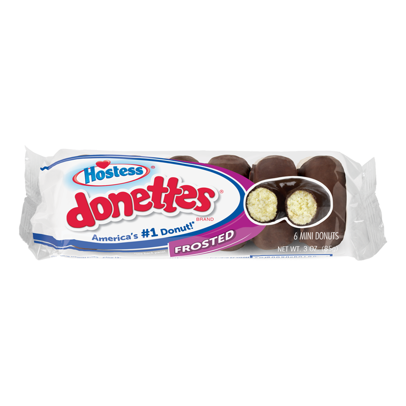 Hostess Donettes Chocolate Frosted Donuts (85g)-0