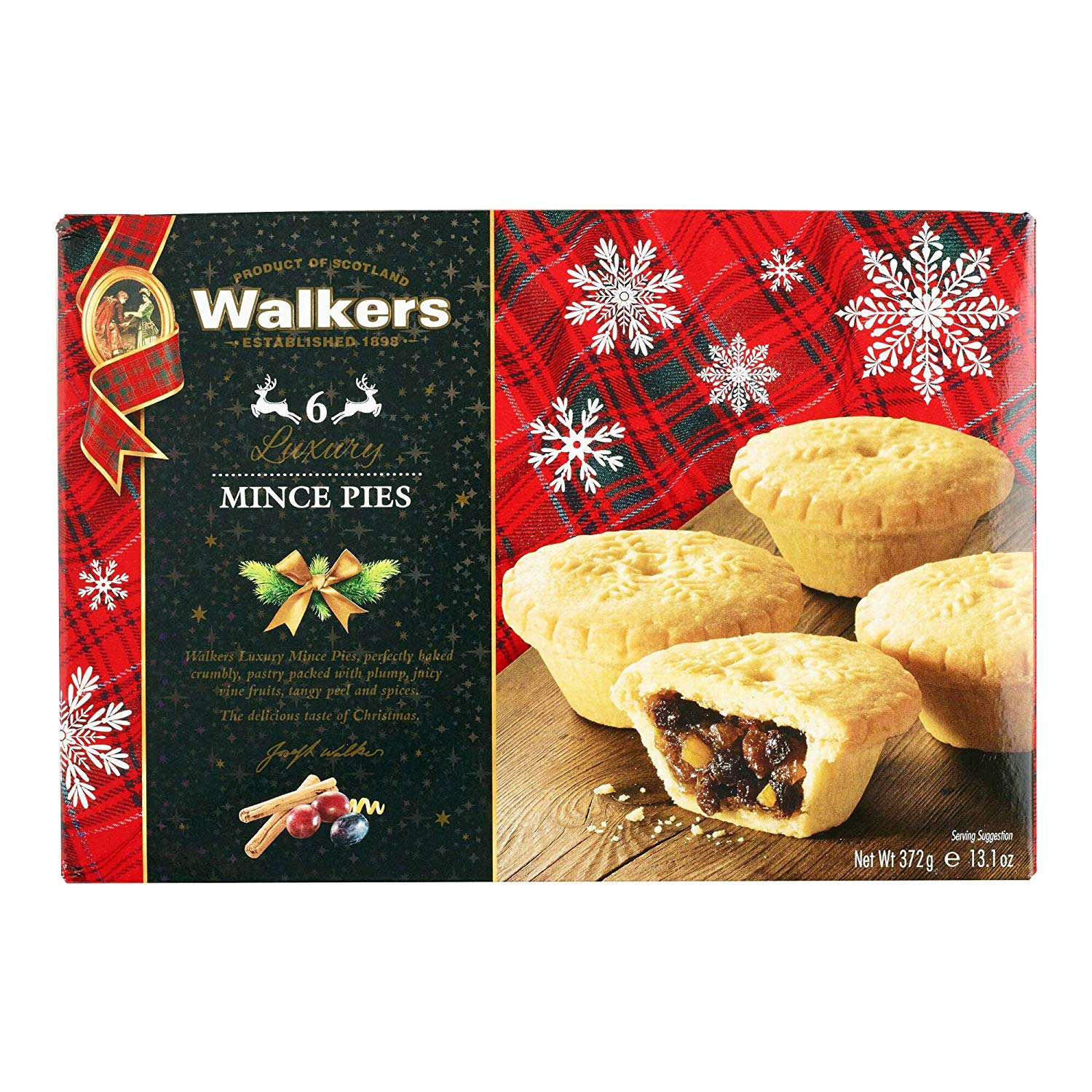 WALKERS 6 LUXURY MINCE PIES (372G)-0