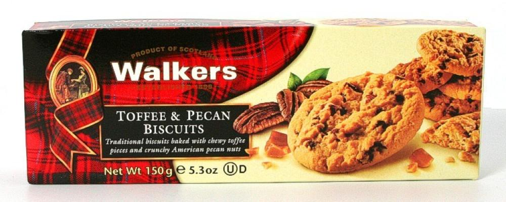 WALKERS TOFFEE & PECAN BISCUITS (150G)-0