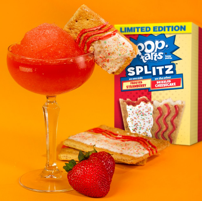Kellogg's Pop Tarts Splitz frosted strawberry & drizzled cheesecake (416g)-9233